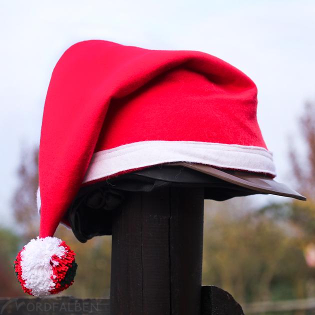 Weihnachtsmütze Reiter Helm